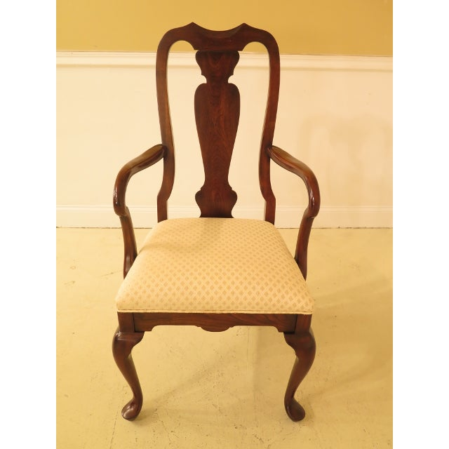 This is a set of 6 Harden cherry wood Queen Anne style dining room chairs. The chairs are about 25 years old. Details:...