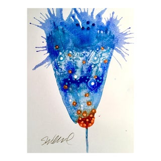 Original Geyser Blue Watercolor Painting For Sale