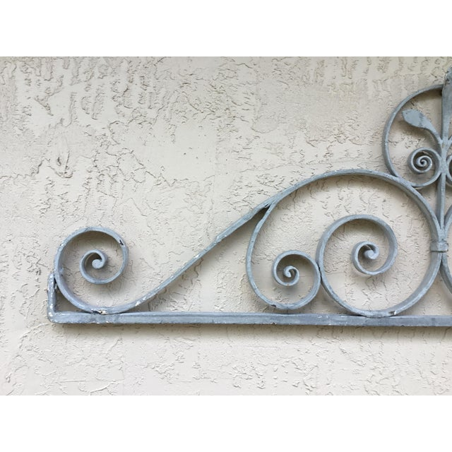 Iron 1950s Asian Wrought Iron Wall Hanging For Sale - Image 7 of 13