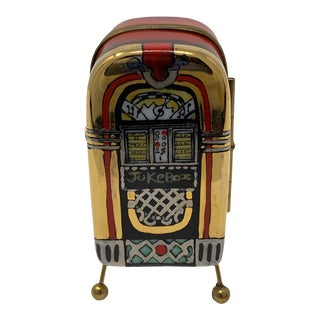 Sock Hop Jukebox Hand Painted Limoges Box For Sale