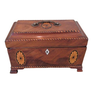 18th Century Mahogany Tea Caddy For Sale