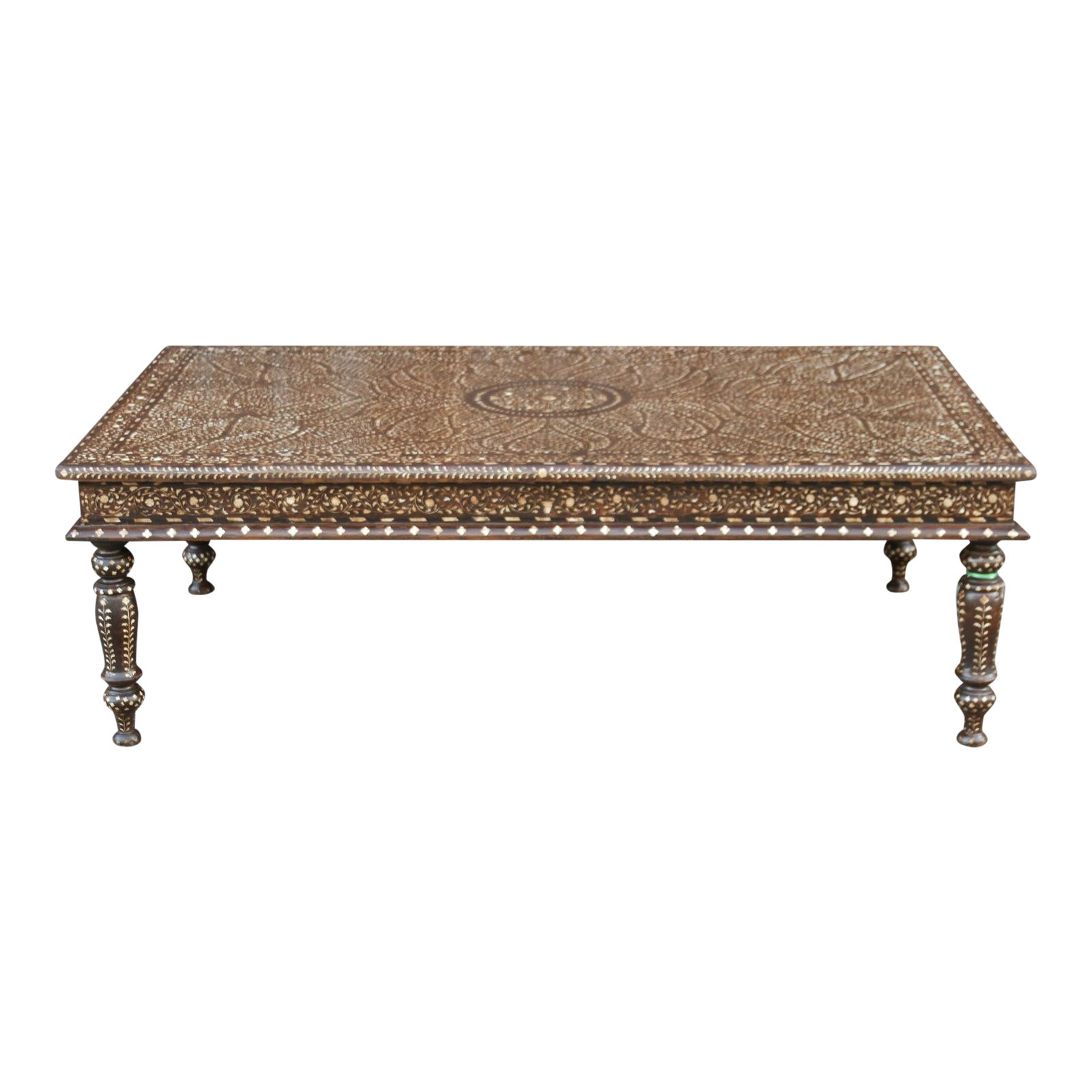 Strange Royal Anglo Indian Bone Inlay Large Coffee Table Dailytribune Chair Design For Home Dailytribuneorg