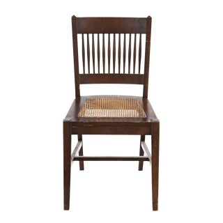 Mid 19th Century American Caned Side Chair For Sale