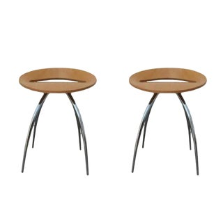 1990s Vintage Design Group Italia Magis Lyra Stools- A Pair For Sale