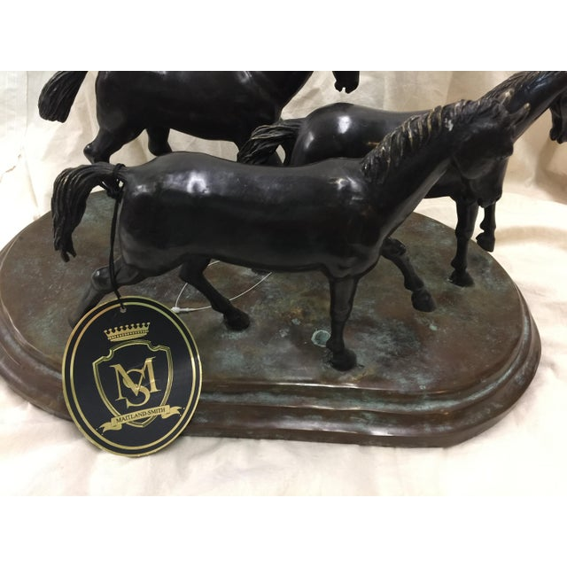 Realism Maitland Smith Bronze Horses For Sale - Image 3 of 5