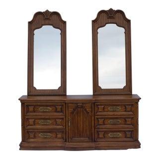 Thomasville Mediterranean Style Double Mirrored Dresser
