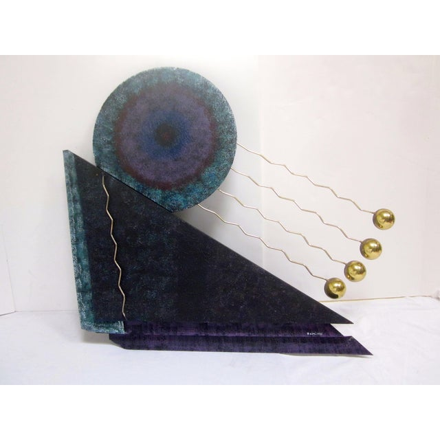 "A large, C. Curtis Jere Abstract Modernist brass wall hanging sculpture. It is signed ""C. Jere, 1993"". C. Jeré is a..."