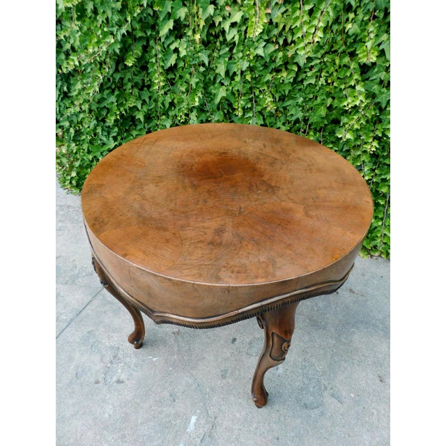 Italian Wood Side Table For Sale - Image 4 of 11