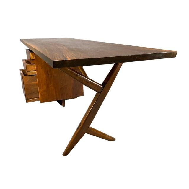 Mid-Century Modern George Nakashima Conoid Writing Desk For Sale - Image 3 of 8