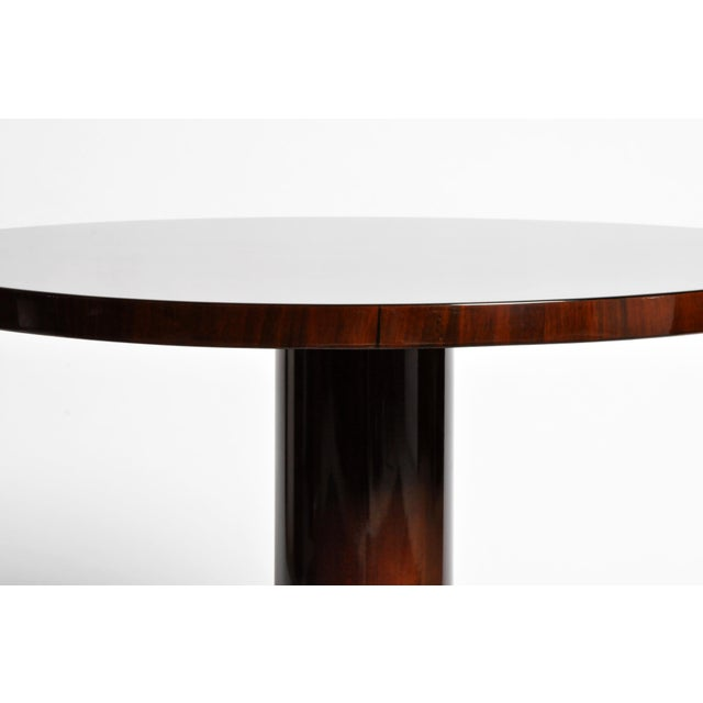 Brown Art Deco Style Round Table For Sale - Image 8 of 11