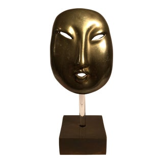 Brass Mask on Stand