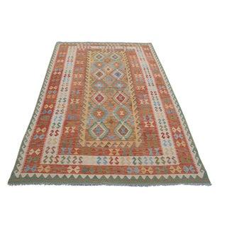 """Vintage Afghani Flatweave Kilim - 6'6"""" x 9'8"""""""