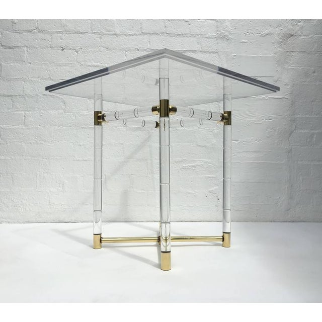 Polished Brass and Faux Bamboo Center Table by Charles Hollis Jones - Image 3 of 10