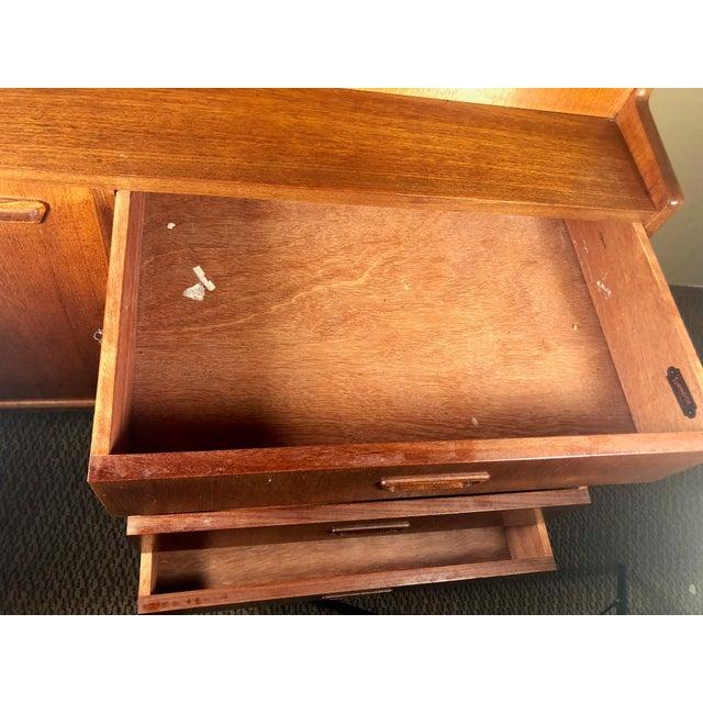Mid Century Teak Secretary Desk by Turnidge of London For Sale - Image 10 of 13