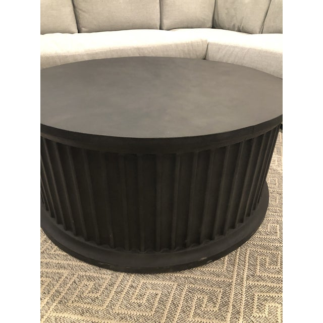 2020s Noir Round Rustic Coffee Table For Sale - Image 5 of 7