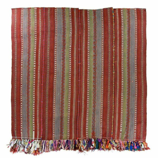 Vintage Turkish Kilim Flatweave - 5'8'' x 6'' - Image 2 of 5