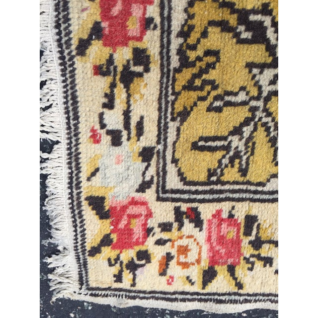 Vintage Turkish Rug Double Lion Tibetan Style Wool Rug - 4′7″ × 7′9″ For Sale - Image 9 of 10