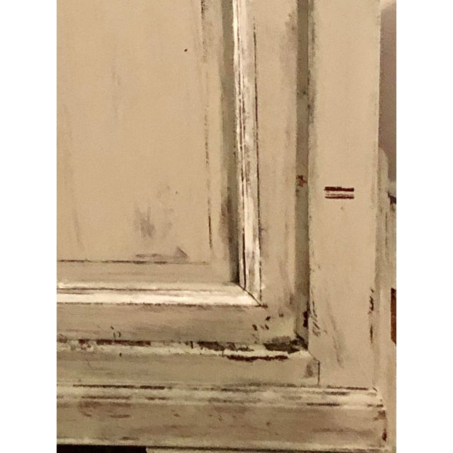 1940s Light Gray Sideboard With Double Doors For Sale - Image 5 of 11