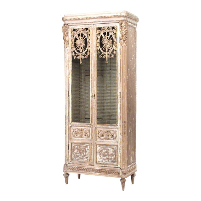 French Regency Style Armoire Cabinet For Sale