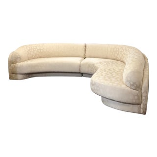 1980s Vintage Vladimir Kagan 3 Piece Curved Sectional Sofa For Sale