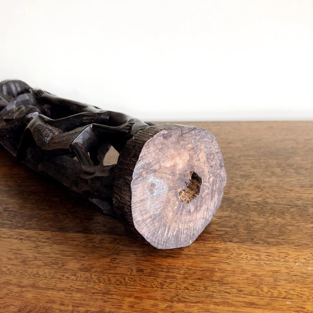 Kenyan Onyx Wood Figure Statue For Sale - Image 9 of 10