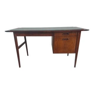 Jack Cartwright Walnut Slate-Top Writing Desk For Sale