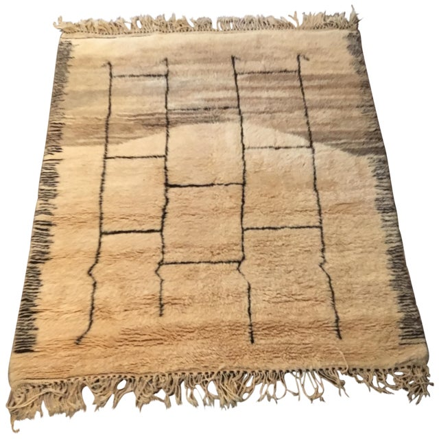 Moroccan Contemporary Rug - 5′4″ × 6′9″ - Image 1 of 8