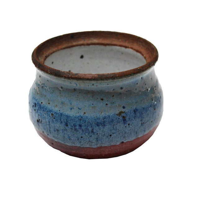 Vintage Blue Ceramic Dish - Image 4 of 4