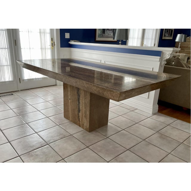 Mid 20th Century Contemporary Natural Stone Dining Table For Sale - Image 10 of 10