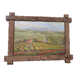 """B. Paske """"The Vineyard"""" Oil Painting For Sale"""