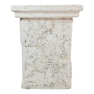 Plaster Greek Style Side Table For Sale
