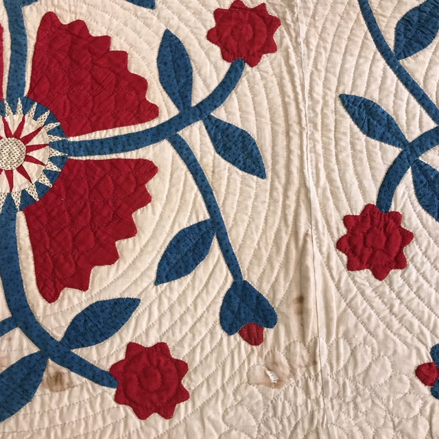 Vintage American Classic Quilt - Image 9 of 9