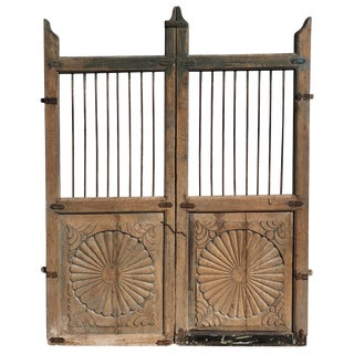 19th Century Teak Indian Garden Gates - Set of 2 For Sale
