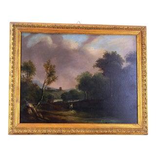 1990s Vintage Pasargad DC Original Oil Painting on Wood For Sale