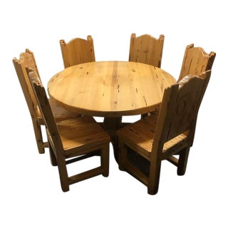 Handmade Southwestern Dining Set For Sale