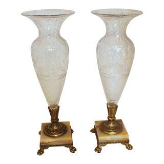 Pair of Pairpoint Vases For Sale