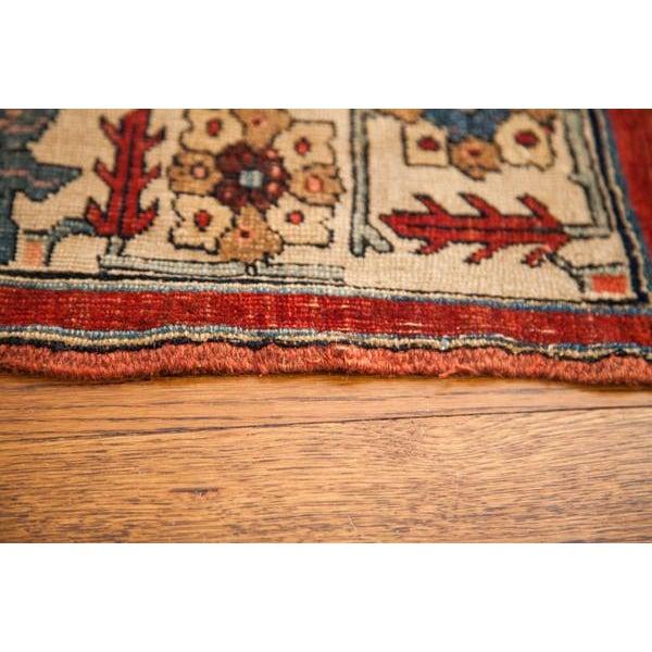 """Red Antique Bijar Area Rug - 5'4"""" X 6'8"""" For Sale - Image 8 of 10"""