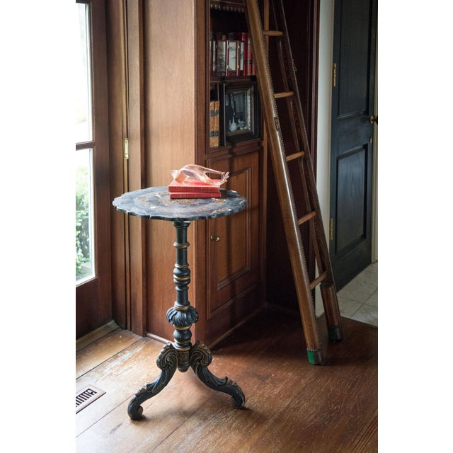 Wood Pair of Chinoiserie Swedish Tilt-Top Tables For Sale - Image 7 of 11