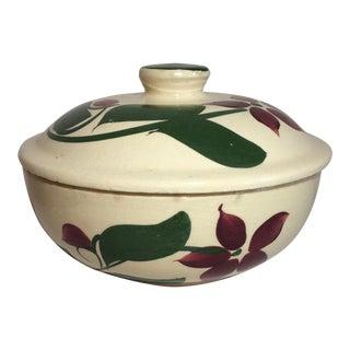 Vintage Watt-Ware Pottery Starflower Casserole Dish For Sale