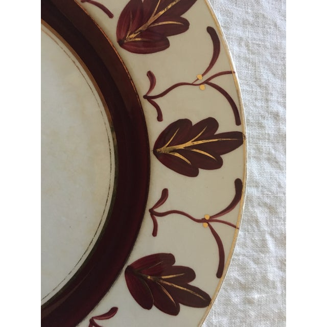 Early 20th Century 1930s/1940s Vintage English Handpainted Plates - Set of 3 For Sale - Image 5 of 9