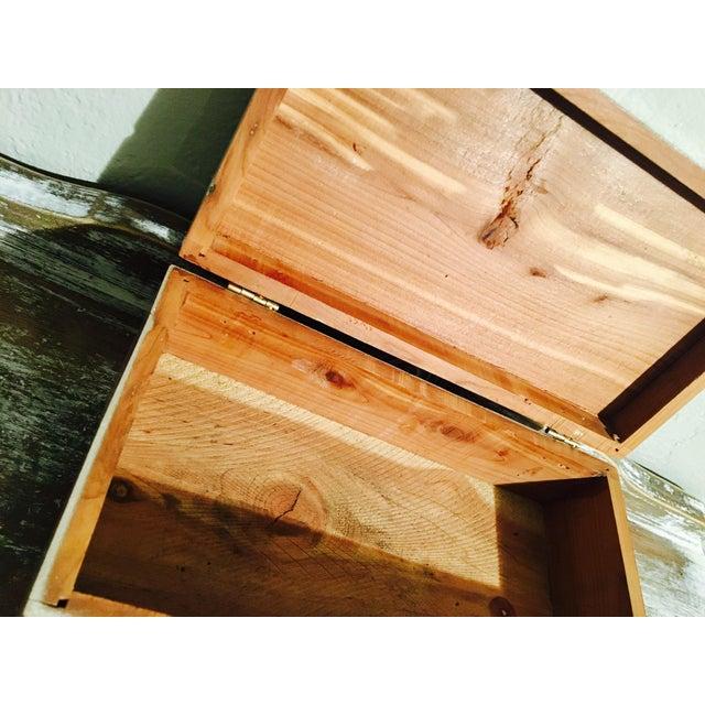 Vintage Shabby Chic Cedar Box - Image 9 of 9