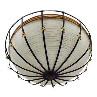 Mid-Century Modern Star Flush Mount Ceiling Light For Sale