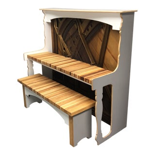 Handcrafted Desk + Bench Set For Sale