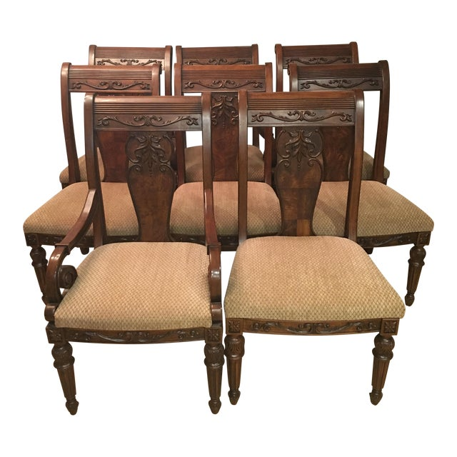 Broyhill Armchair: Broyhill Hepplewhite Dining Chairs - Set Of 8