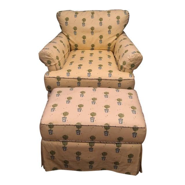 Miles Talbott Chair & Ottoman - Image 1 of 5