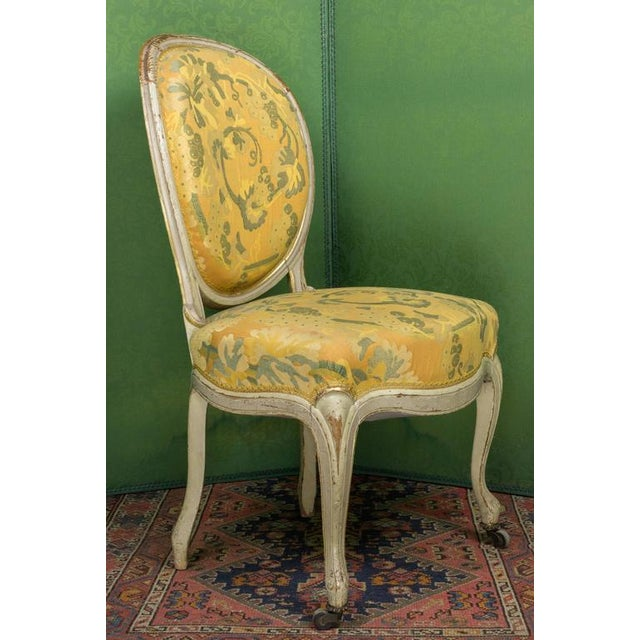 Louis XV Pair of Louis XV Style Side Chairs For Sale - Image 3 of 11