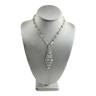 German Art Deco Era Bezel Set Crystal Necklace (I Will Re-Shoot the First Photo) For Sale