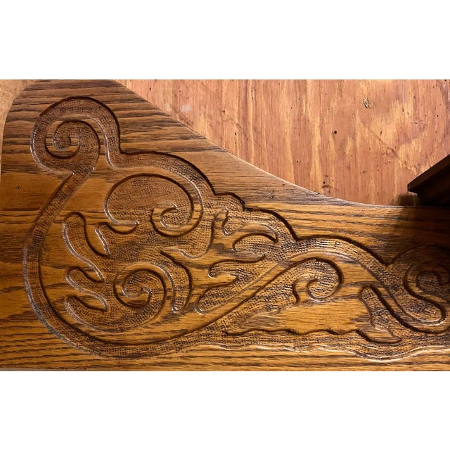 Brown 1910s Victorian Oak Fireplace Mantel For Sale - Image 8 of 10