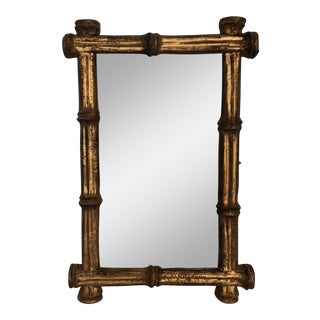 Gold Faux Bamboo Mirror