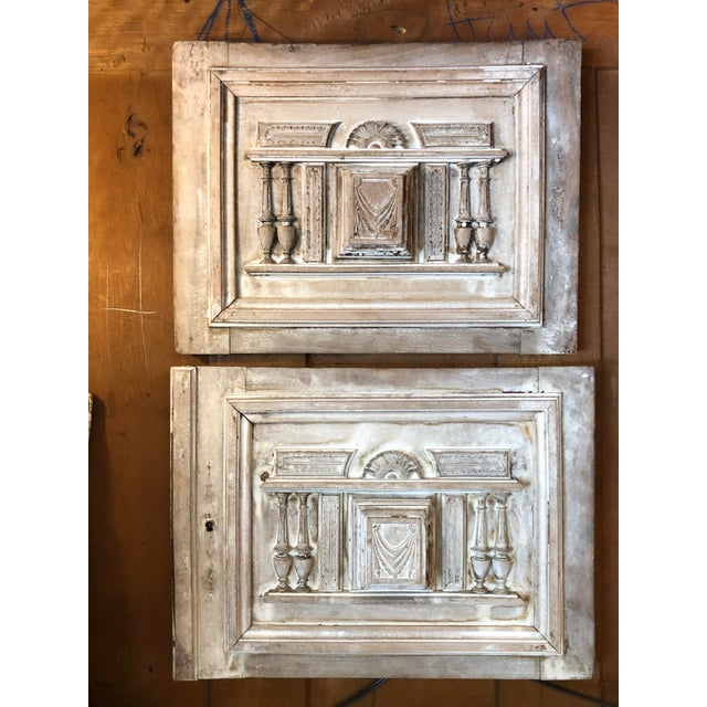 19th Century Vintage French Architectural Panels- a Pair For Sale In Atlanta - Image 6 of 6